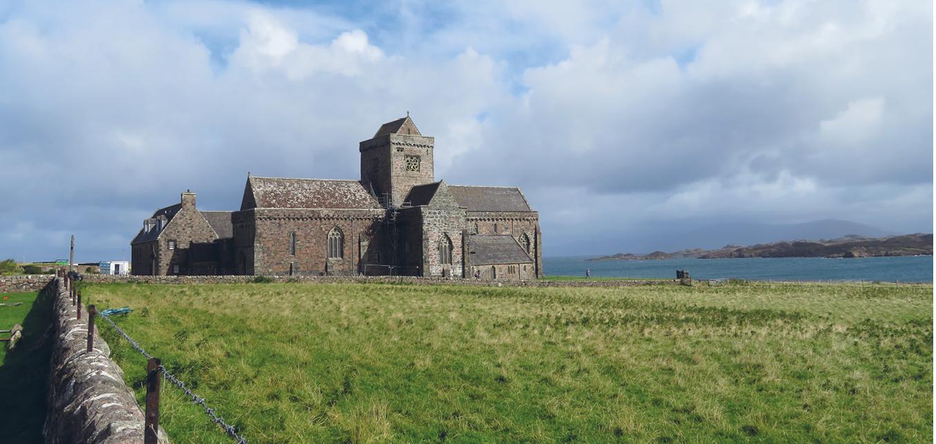 L'abbaye sur l'île d'Iona